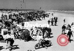 Image of motorcycle race Daytona Beach Florida USA, 1954, second 2 stock footage video 65675050610
