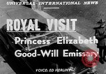 Image of Princess Elizabeth and Duke Phillip Toronto Ontario Canada, 1951, second 2 stock footage video 65675050619