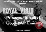 Image of Princess Elizabeth and Duke Phillip Toronto Ontario Canada, 1951, second 3 stock footage video 65675050619