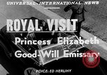 Image of Princess Elizabeth and Duke Phillip Toronto Ontario Canada, 1951, second 4 stock footage video 65675050619