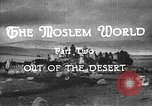 Image of caravan caught in a sand storm in desert of Saudi Arabia Saudi Arabia, 1936, second 3 stock footage video 65675050625