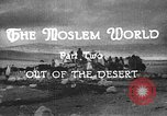 Image of caravan caught in a sand storm in desert of Saudi Arabia Saudi Arabia, 1936, second 6 stock footage video 65675050625