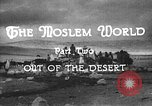 Image of caravan caught in a sand storm in desert of Saudi Arabia Saudi Arabia, 1936, second 7 stock footage video 65675050625