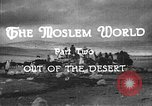 Image of caravan caught in a sand storm in desert of Saudi Arabia Saudi Arabia, 1936, second 9 stock footage video 65675050625