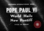 Image of Pope Paul VI Vatican City Rome Italy, 1963, second 2 stock footage video 65675050673