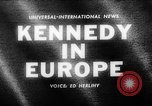 Image of President Kennedy Germany, 1963, second 1 stock footage video 65675050674