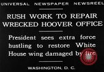 Image of repair of White House Washington DC USA, 1930, second 3 stock footage video 65675050768