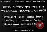 Image of repair of White House Washington DC USA, 1930, second 6 stock footage video 65675050768