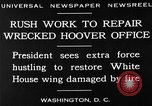 Image of repair of White House Washington DC USA, 1930, second 12 stock footage video 65675050768