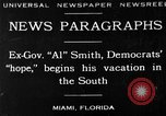 Image of Alfred Emanuel Smith Miami Florida USA, 1930, second 1 stock footage video 65675050769