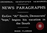 Image of Alfred Emanuel Smith Miami Florida USA, 1930, second 2 stock footage video 65675050769