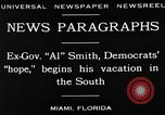 Image of Alfred Emanuel Smith Miami Florida USA, 1930, second 6 stock footage video 65675050769