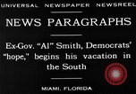 Image of Alfred Emanuel Smith Miami Florida USA, 1930, second 7 stock footage video 65675050769