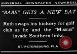 Image of Babe Ruth playing golf Saint Petersburg Florida USA, 1930, second 11 stock footage video 65675050771