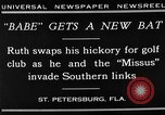 Image of Babe Ruth playing golf Saint Petersburg Florida USA, 1930, second 12 stock footage video 65675050771