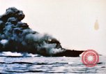 Image of burning warship Pacific Ocean, 1945, second 2 stock footage video 65675050821
