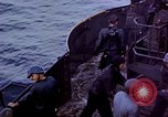 Image of USS Bunker Hill aftermath of kamikaze attack Pacific Ocean, 1945, second 9 stock footage video 65675050833