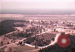 Image of aerial view of Vietnamese refugee camp at Eglin Air Force Base Florida United States USA, 1975, second 10 stock footage video 65675050956