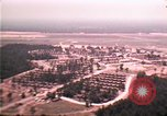 Image of aerial view of Vietnamese refugee camp at Eglin Air Force Base Florida United States USA, 1975, second 12 stock footage video 65675050956