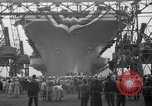 Image of USS Ranger Newport News Virginia USA, 1956, second 5 stock footage video 65675050998