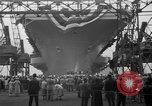Image of USS Ranger Newport News Virginia USA, 1956, second 8 stock footage video 65675050998
