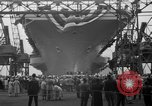 Image of USS Ranger Newport News Virginia USA, 1956, second 9 stock footage video 65675050998