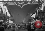 Image of USS Ranger Newport News Virginia USA, 1956, second 10 stock footage video 65675050998