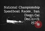 Image of speedboat race San Diego California USA, 1926, second 2 stock footage video 65675051034