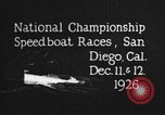 Image of speedboat race San Diego California USA, 1926, second 5 stock footage video 65675051034