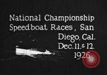 Image of speedboat race San Diego California USA, 1926, second 7 stock footage video 65675051034