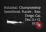 Image of speedboat race San Diego California USA, 1926, second 10 stock footage video 65675051034