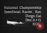 Image of speedboat race San Diego California USA, 1926, second 11 stock footage video 65675051034
