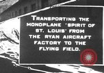 Image of Spirit of Saint Louis monoplane United States USA, 1927, second 1 stock footage video 65675051039