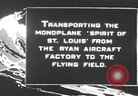 Image of Spirit of Saint Louis monoplane United States USA, 1927, second 2 stock footage video 65675051039