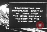 Image of Spirit of Saint Louis monoplane United States USA, 1927, second 5 stock footage video 65675051039