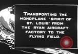 Image of Spirit of Saint Louis monoplane United States USA, 1927, second 9 stock footage video 65675051039