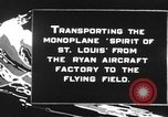Image of Spirit of Saint Louis monoplane United States USA, 1927, second 10 stock footage video 65675051039