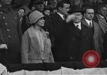 Image of President and Mrs. Calvin Coolidge at baseball game Washington DC USA, 1927, second 3 stock footage video 65675051047