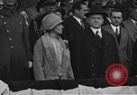 Image of President and Mrs. Calvin Coolidge at baseball game Washington DC USA, 1927, second 4 stock footage video 65675051047