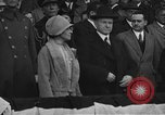 Image of President and Mrs. Calvin Coolidge at baseball game Washington DC USA, 1927, second 5 stock footage video 65675051047