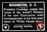 Image of President Calvin Coolidge Washington DC USA, 1936, second 1 stock footage video 65675051132