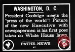 Image of President Calvin Coolidge Washington DC USA, 1936, second 3 stock footage video 65675051132