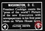 Image of President Calvin Coolidge Washington DC USA, 1936, second 4 stock footage video 65675051132