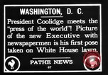 Image of President Calvin Coolidge Washington DC USA, 1936, second 11 stock footage video 65675051132