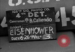 Image of General Eisenhower United Kingdom, 1944, second 8 stock footage video 65675051297