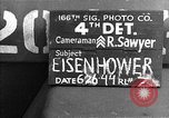 Image of General Eisenhower United Kingdom, 1944, second 1 stock footage video 65675051309