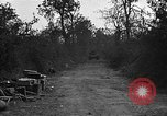 Image of road cleared of land mines using explosive charges Emelie France, 1944, second 7 stock footage video 65675051321
