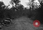 Image of road cleared of land mines using explosive charges Emelie France, 1944, second 8 stock footage video 65675051321