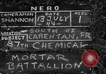 Image of United States 87th Chemical Mortar Battalion Carentan France, 1944, second 6 stock footage video 65675051322