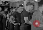 Image of United States Navy sailors enjoy ice cream Pacific Ocean, 1954, second 8 stock footage video 65675051350